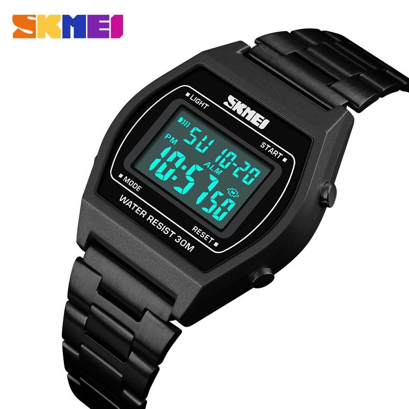 Fashion LED Digital Lover's Watch SKMEI Luxury Brand Women Sports Watches Waterproof Electronic Men's Wrist Watch Couple Watch
