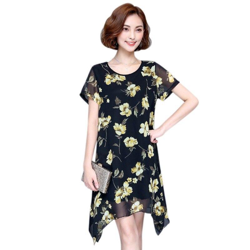 Woman Boho  A-Line Mini Dresses Beach Style Irregular Ruffles Hem Belt Summer Flower Print Sexy Mesh Patchwork Dress