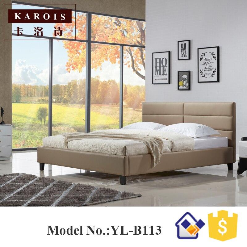 foshan yilin furniture latest teak wood double platform bed designsbedroom furniturebed frame - Wholesale Bed Frames