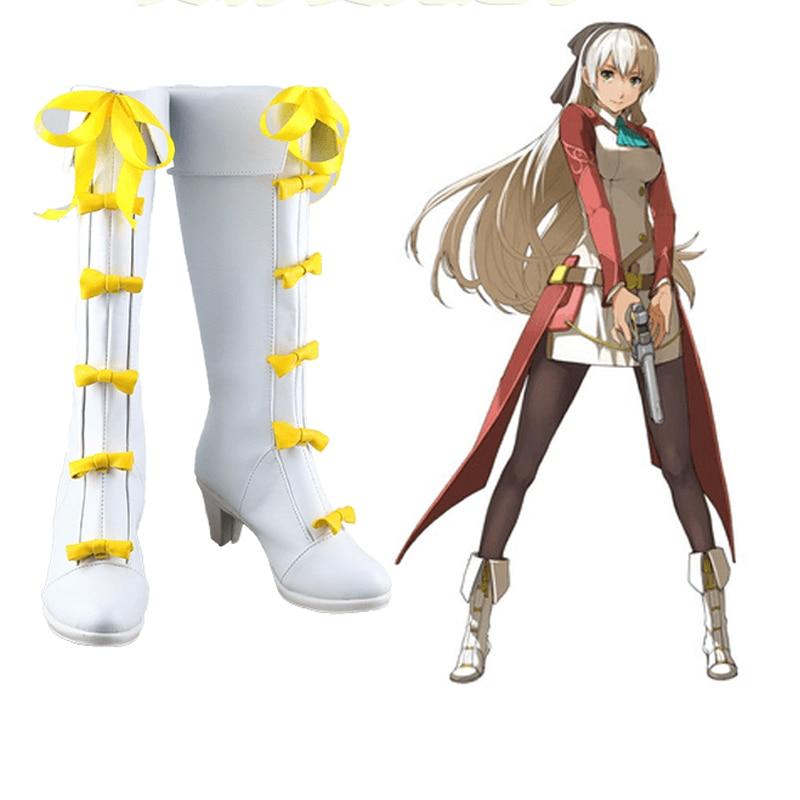 The Legend of Heroes Sora no Kiseki Eiyuu Densetsu Zero no Kiseki Elie MacDowell Cosplay Shoes Boots Costume Accessories