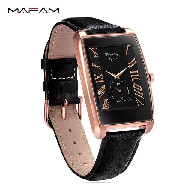 2017 Для мужчин Смарт-часы BT4.0 1.61 Дюйма Изогнутые IPS Сенсорный экран Шагомер с сна Мониторы сердечного ритма Мониторы mafam MF11