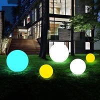 Outdoor Solar Garden Globe Ball Light With Remote Waterproof Courtyard Landscape Solar Lawn Lamp Underground Buried Lamp