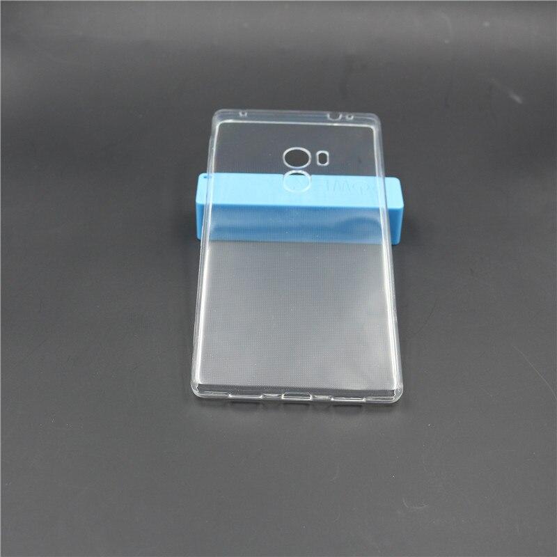 Caja del gel de silicona fundas para xiaomi mi mezcla ultra delgado claro transp