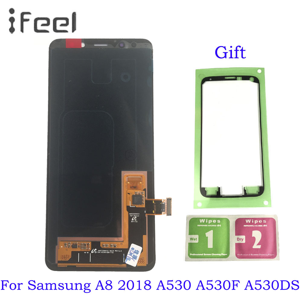 For Samsung Galaxy A8 2018 A530 A530F A530DS A530N SM-A530N LCD Display + Touch Screen Panel Digitizer Assembly Replacement For Samsung Galaxy A8 2018 A530 A530F A530DS A530N SM-A530N LCD Display + Touch Screen Panel Digitizer Assembly Replacement