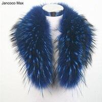 Jancoco Max 10 Couleurs Réel Fourrure De Raton Laveur Garniture Col Femmes Hiver De Mode Veste Écharpe Doublure 80 cm Parka Capot En Gros S1080WS