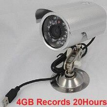 K808 4GB records 20h Waterproof cctv security camera DVR PIR video record camera intellgent SD card