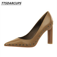 TTSDARCUPS European Style Sexy Rock Night Store High Heels Women S Shoes Metal Heel Heel High