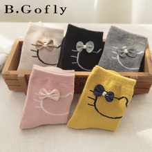 5 pairs Autumn Kids Baby Toddler Students Carton Kitty Funny