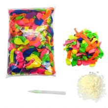 111 шт многоцветные латексные воздушные шары для наполнения водой, Детская летняя уличная пляжная игрушка, вечерние воздушные шары для наполнения, игрушки для взрослых и детей