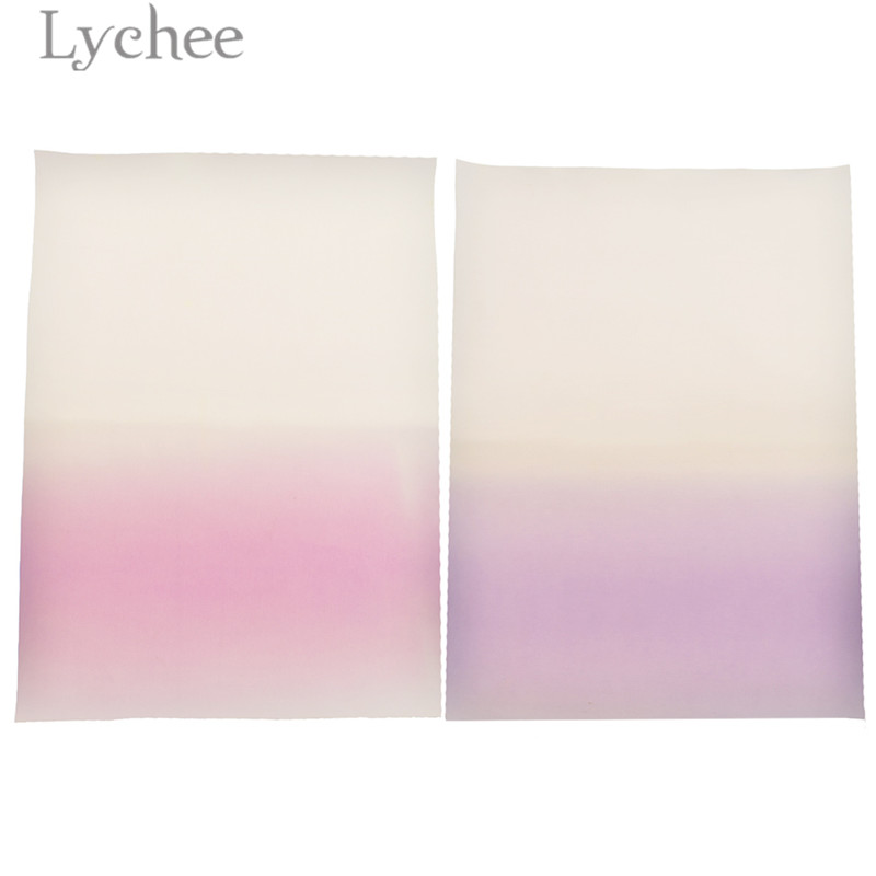 1PC 29x21cm UV Light Reactive Synthetic Leather Fabric Colorful A4 PU Fabric