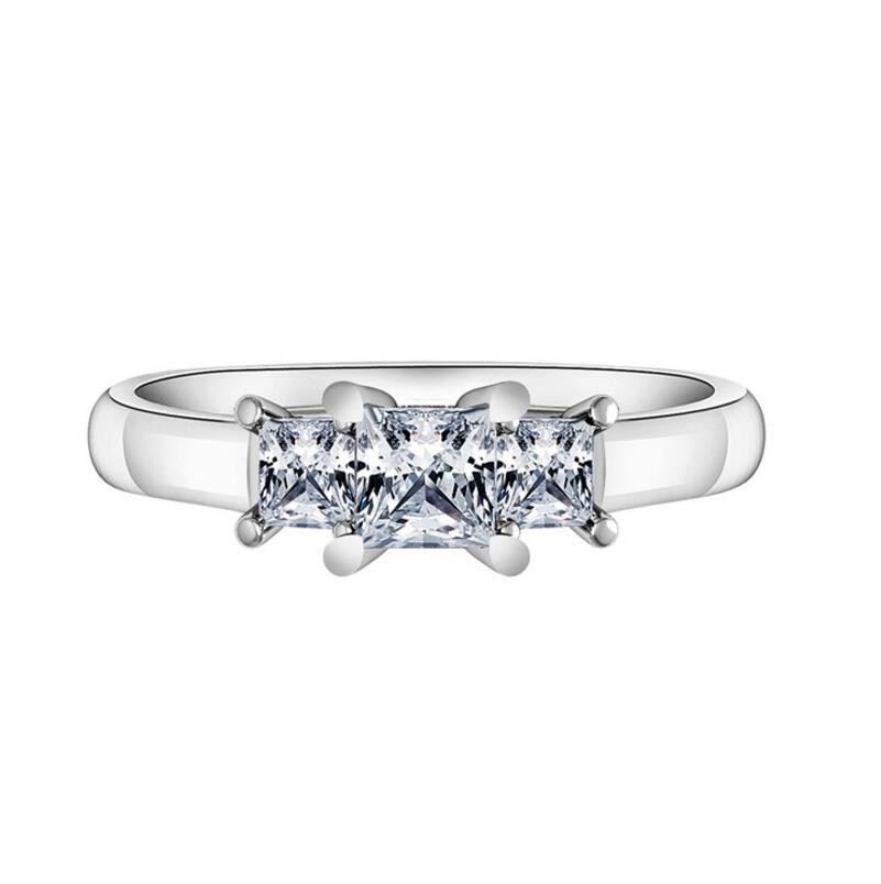 1 carat diamond ringSterling Silver 925 Jewelry Fashion Personality Engagement Ring Customized (XJ)