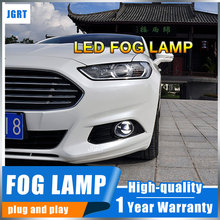 JGR 2011-2014 For Ford Explorer  led fog lights+LED DRL+turn signal lights Car Styling LED Daytime Running Lights LED fog lamps led front fog lights for ford fusion estate ju 2002 2008 car styling round bumper drl daytime running driving fog lamps
