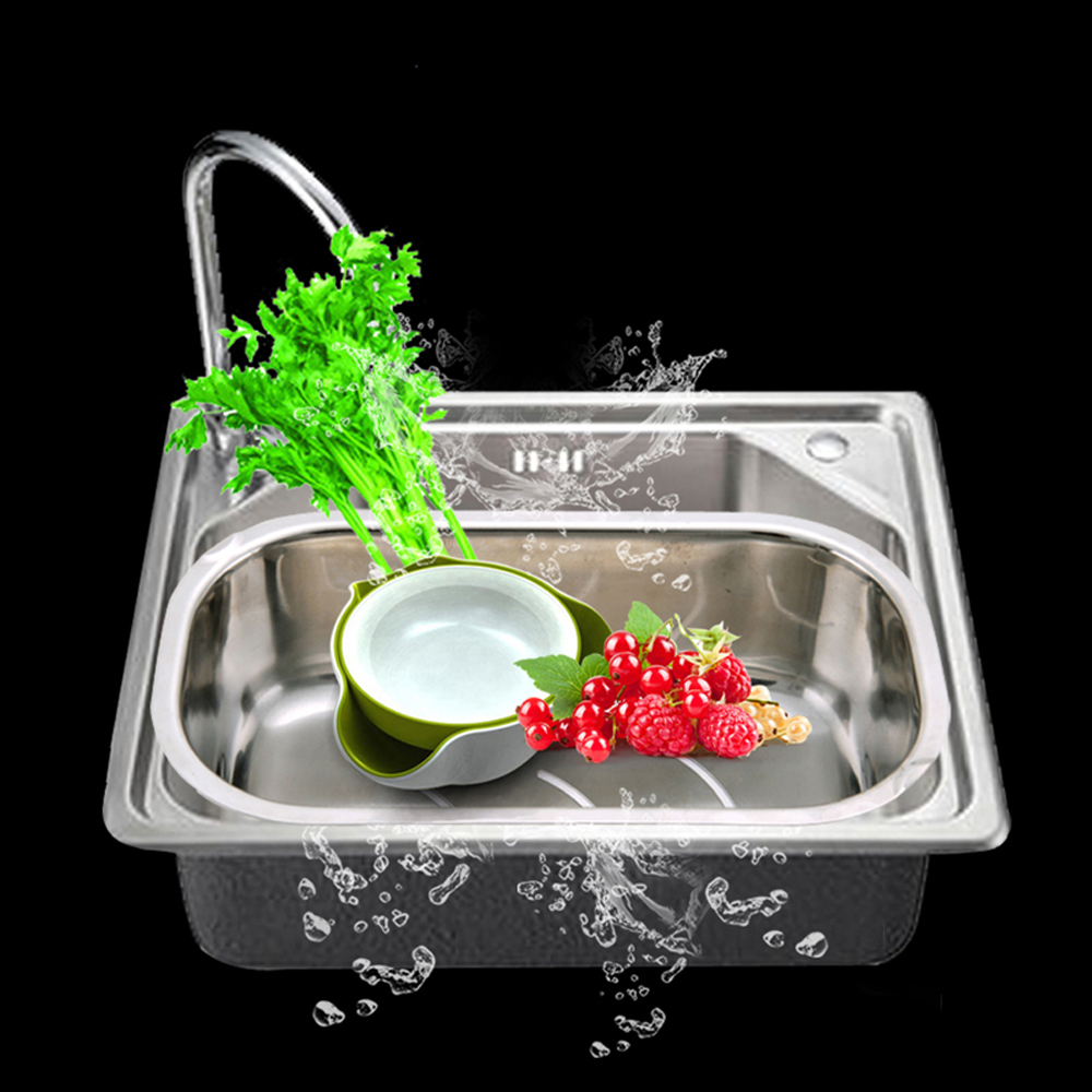 Talea  Popular Tray Stainless Steel Kitchen Fruits Vegetables Draining Dish Bowl Drainer Drying Basket Storage Tray
