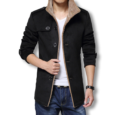 Winter Long Wool Coat Mens...