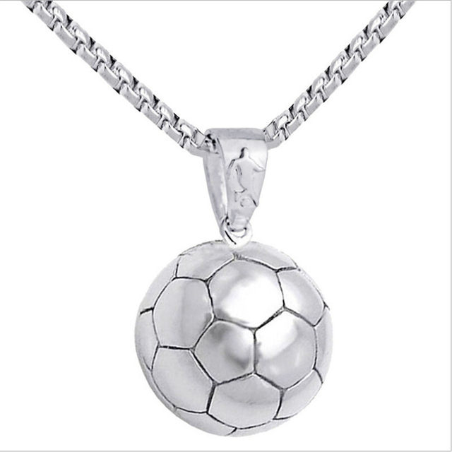 Online shop new creative football stainless steel pendant necklace new creative football stainless steel pendant necklace men silvergold link chain mens necklace basketball fitness sport jewelry mozeypictures Gallery