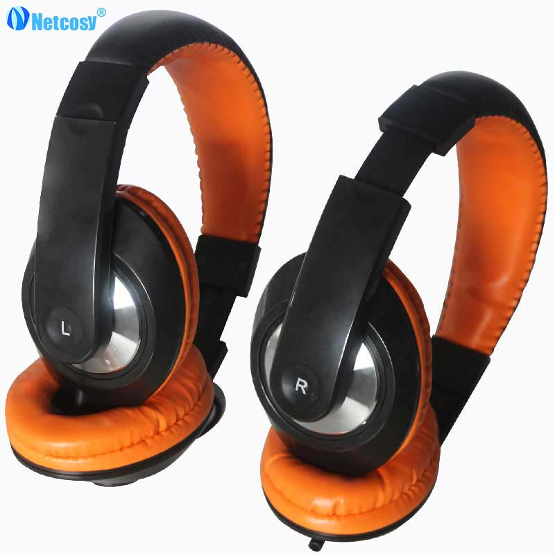 Netccosy Portable Over-Ear Headband Wired Earphone Gaming Headset Foldable Headphone For OPPO cellphone MP3 PC Table