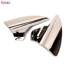 Triclicks Saddle Shield Heat Deflectors Motorcycle Air&Heat Deflector For Harley Touring Road Electra Glide 09-15