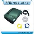 O envio gratuito de 125-134.2 KHz 302 H Escritor RFID HITAG S256 ISO 11784/85 Tag de Orelha animal de estimação Pombo Anel ID para software Inglês + SDK