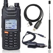 ABBREE AR F6 Walkie Talkie 125 560 MHz Alle Bands lange palette Dual Display Dual Standby VOX DTMF SOS LCD farbe Display Ham Radio