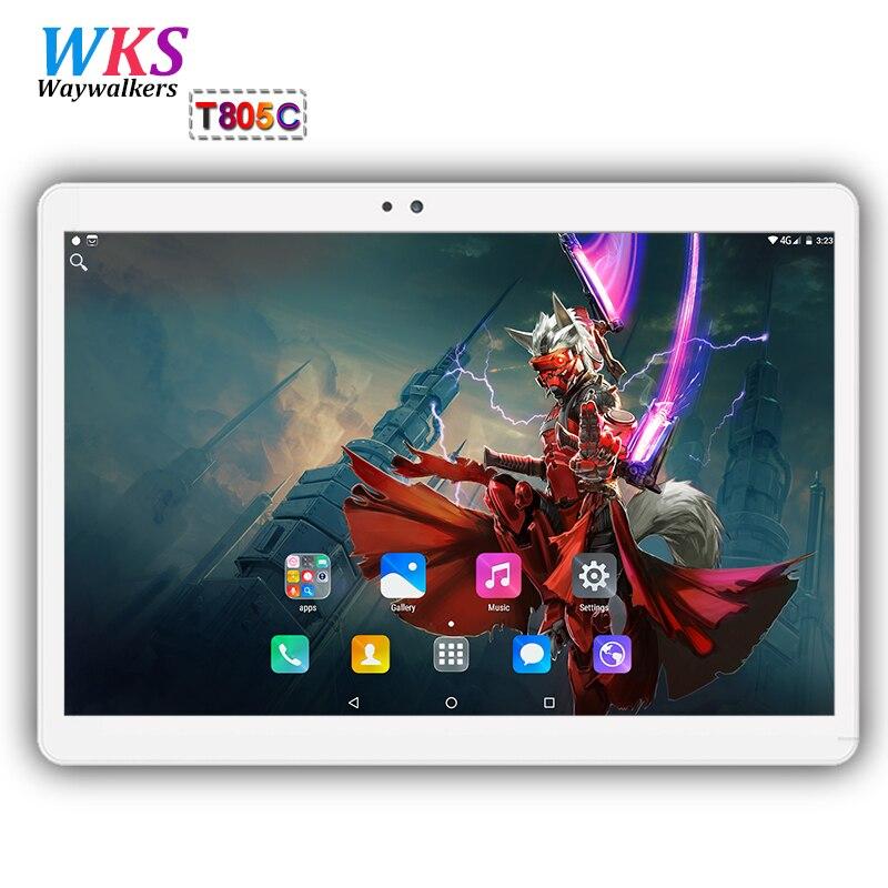 2018 Mondial tablet pc 10 pouce Octa base Android 7.0 4 gb + 64 gb Octa Core Dual SIM Carte WIFI Bluetooth Comprimés pc Cadeaux MI 10 10.1