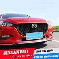 For Mazda 3 Axela 2017 2018 Racing Grills Honeycomb grid Front Racing Grill Grille black Front bumper modified For Axela