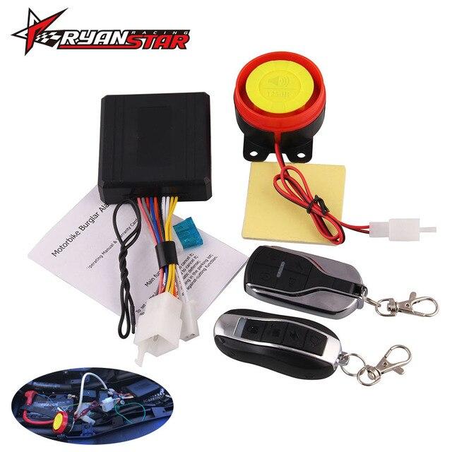 Sepeda Motor Universal Sistem Alarm Skuter-Anti-Theft Alarm Moto Remote Control Mesin Mulai + Alarme Moto Speaker
