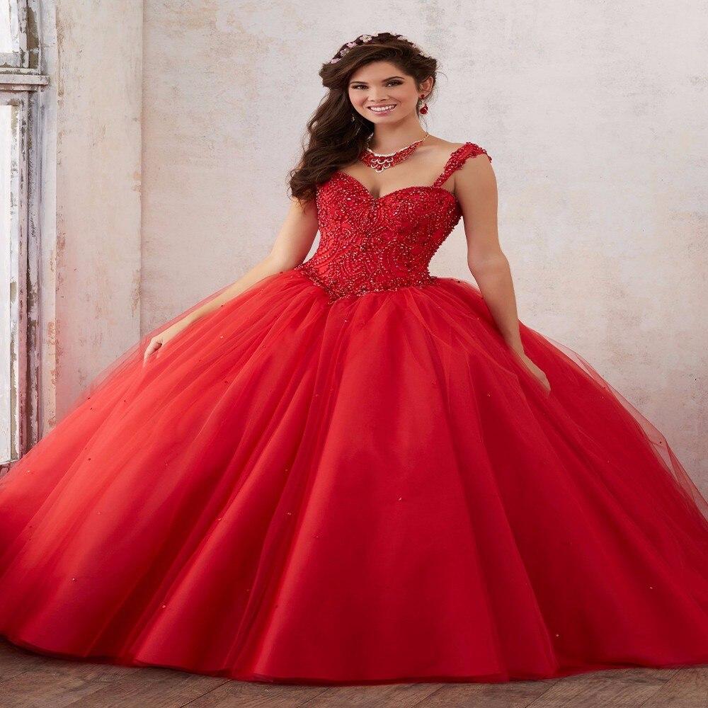 Quinceniera Dresses Red Elegant