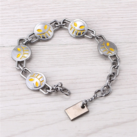 Julie Hot Movie One Piece Bracelet Ace Yellow Silver Smile Face Logo Friendship Bracelets Bangles Fashion
