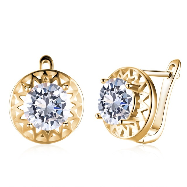 Aliexpresscom Buy Top Brand Gold color Clip Earrings with Zircon
