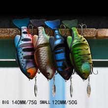 2017 New Arrival Joint Bait Swimbait with Spinner Fishing Lure 140MM/120MM