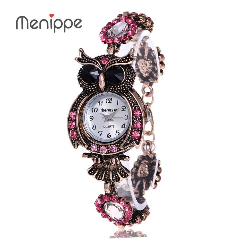 2019 Vintage Quartz Watches Luxury Brand Owl Fashion Women Bracelet Watch Designer Watches Beautiful Girl Gift Watch