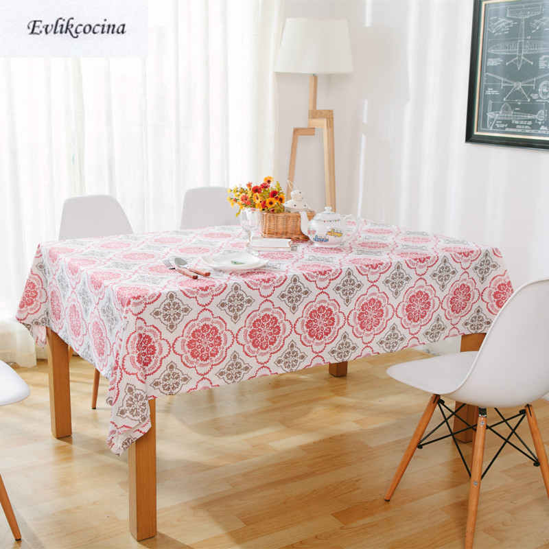 Free Shipping Red Gray Windows Flower Tablecloth Home/Hotel Table Cover Mantel De Mesa Multifunction Printed Covered Cloth Nappe ...