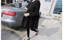 Maternity Linen Breastfeeding Nursing Dress Clothes Black Pregnant Women Lactancia Vestidos Pregnancy Dresses Clothing Fall XL