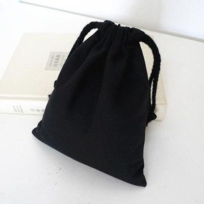 Algodão Presente bolsa de Lona preta 8x10 cm 9x12 cm 10x15 centímetros 13x17 cm pacote de 50 Party Favor Doce Drawstring bag