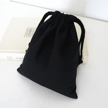Black Canvas Drawstring Tasker 8cmx10cm 9cmx12cm 11cmx14cm 13cmx17cm 17cmx24cm Fabric Gaveposer Favoritholdere Opbevaringstaske