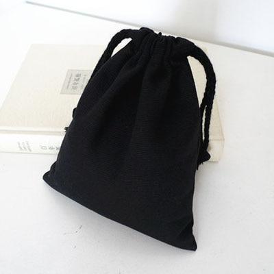 Črne platnene vrečice za vlečenje 8cmx10cm 9cmx12cm 11cmx14cm - Prazniki in zabave