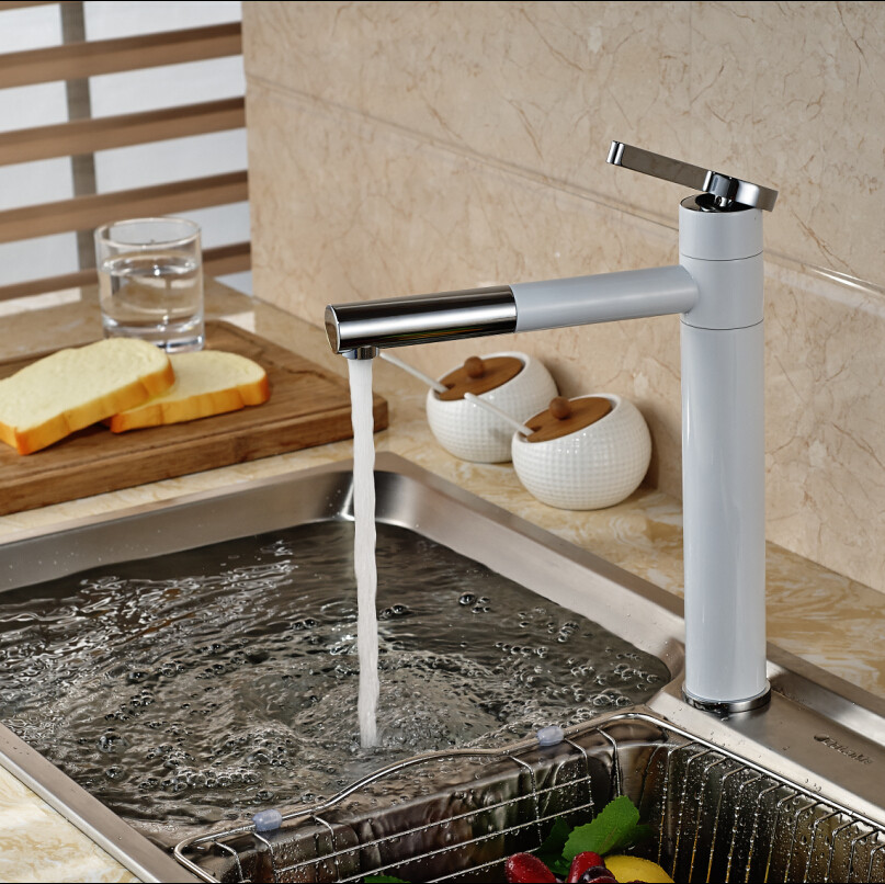 ulgksd white brass kitchen sink faucet with aerator 360 free rotating kitchen faucet water tap water. Interior Design Ideas. Home Design Ideas