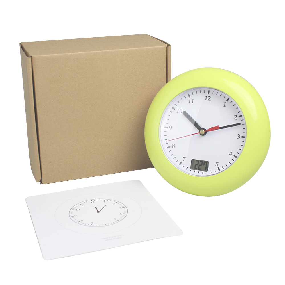 NEW Thermometer Bathroom Wall Clocks Temperature Display Suction ...