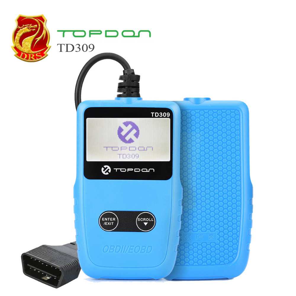 EOBD/OBEII Code Reader TOPDON TD309  OBD2 Diagnostic Auto Car Tools With Reads and displays DTCs