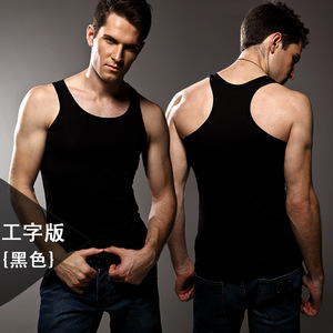 Image 3 - ¡Alta calidad! Ropa interior de color sólido para hombre, Chaleco Ajustado, licra, alta elasticidad, hombros anchos, ropa interior