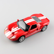 1:32 Scale brand small Ford GT 1 mustang Sport die casting race Automotive car pull back model Engine toy gift for children red
