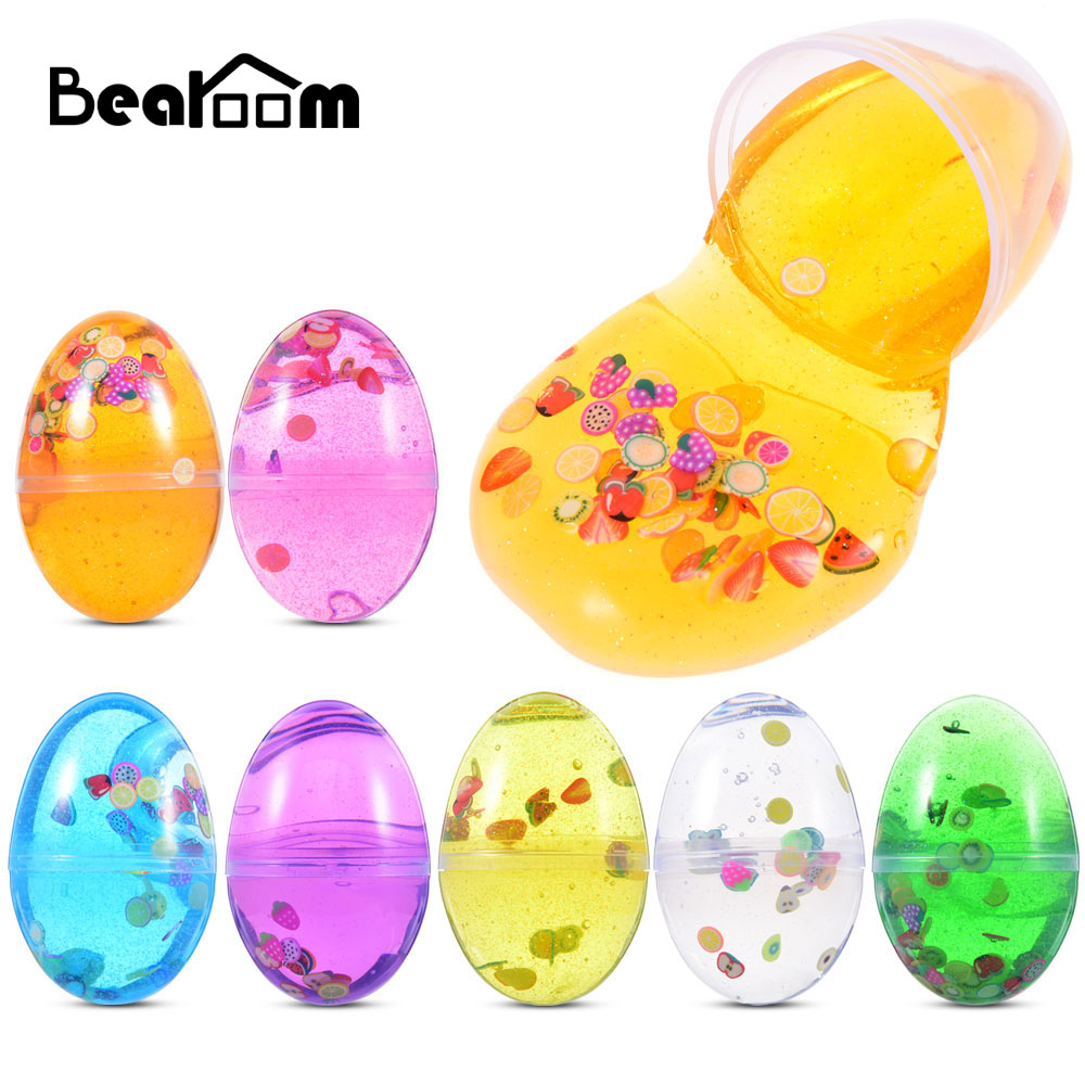 Bearoom Funny Slime DIY Egg Crystal Mud Soft Modeling Clay Colorful Toys Stress Reliever Plasticine Slime For Child As A Gift
