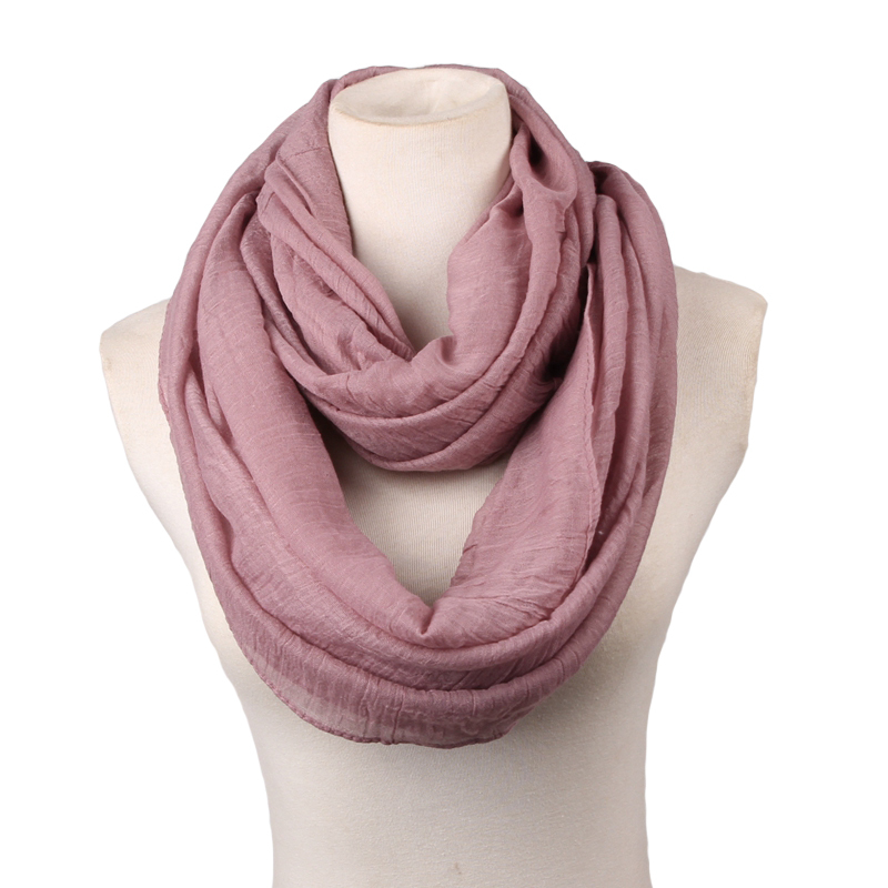 Big Size Fashion Solid Color Scarves Light Weight Circle Loop Women Infinity Scarf Plain Snood For Ladies Shawl Cheap Scarfs