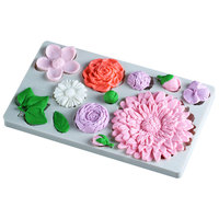 Variety Of Flowers Silicone Mold Fondant Mould Cake Decorating Tool Chocolate Gumpaste Mold Sugarcraft Kitchen Accessories