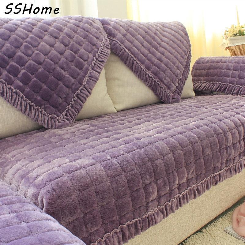 Leather Or Fabric Sofa With Dogs: Autumn Winter Quality Genuine Leather Sofa Cushion Fabric