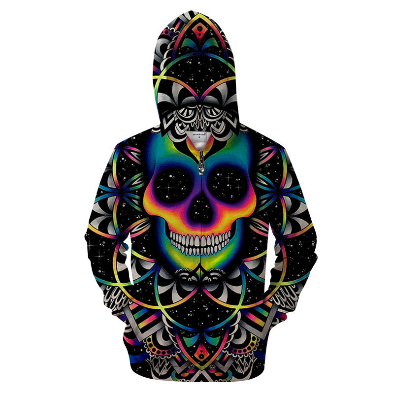 2019 Supernatural 3D Man Zipper Hoodie Fall Hip Hop Men Clothing Stranger things 3D Printed Sweatshirts Hooded Plus Size Hoodie