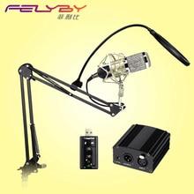 Microphone for computerProfessional BM 800 Condenser Microphone 48V Phantom Power USB Sound Card Studio KTVHave a