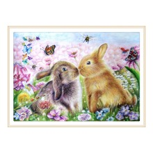5D DIY diamond painting all-round / round rabbit embroidery cross stitch gift home decoration