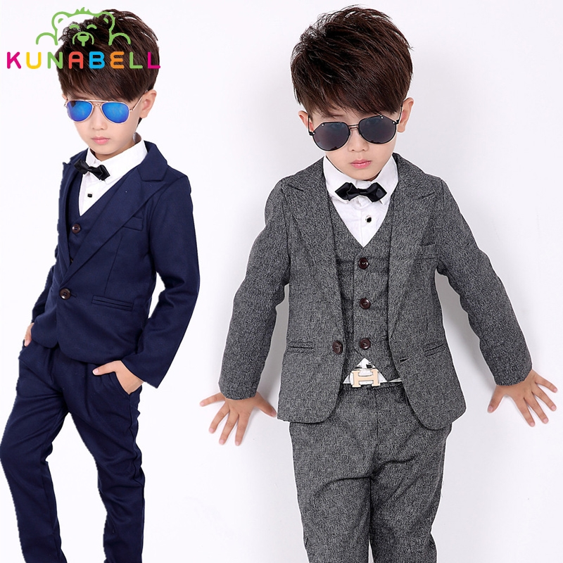 Children Formal Suit Jackets+Vest+Pants 3pcs Boys Formal Suit For Weddings Boys Clothes Set Blazers Suits For Weddings Suit B016 alwin dsouza quality of primary education in maharashtra india