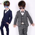 Children Formal Suit Jackets+Vest+Pants 3pcs Boys Formal Suit For Weddings Boys Clothes Set Blazers Suits For Weddings Suit B016